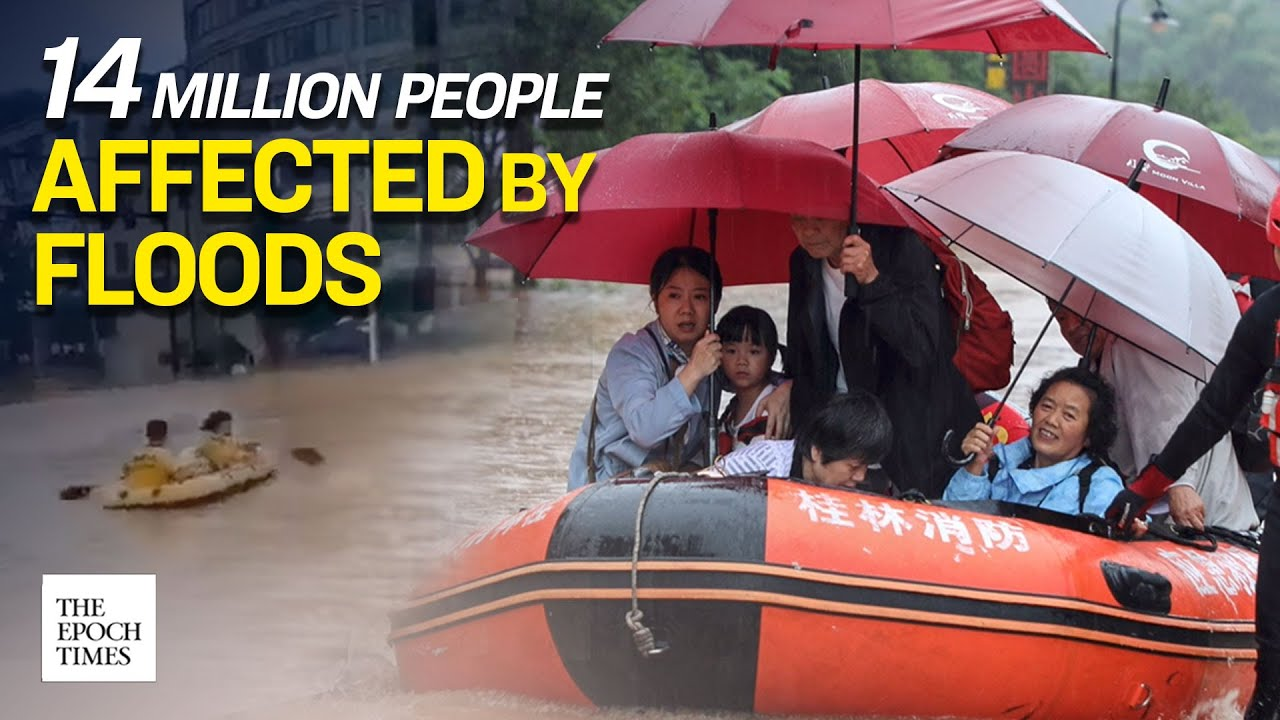 China: 14 Million People in 26 Provinces Affected by Floodwater | CCP Virus | COVID-19 | Epoch News