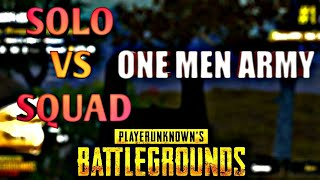 One man army 👍👍 look like a solo vs squad match and 21 kills  pubg mobile....