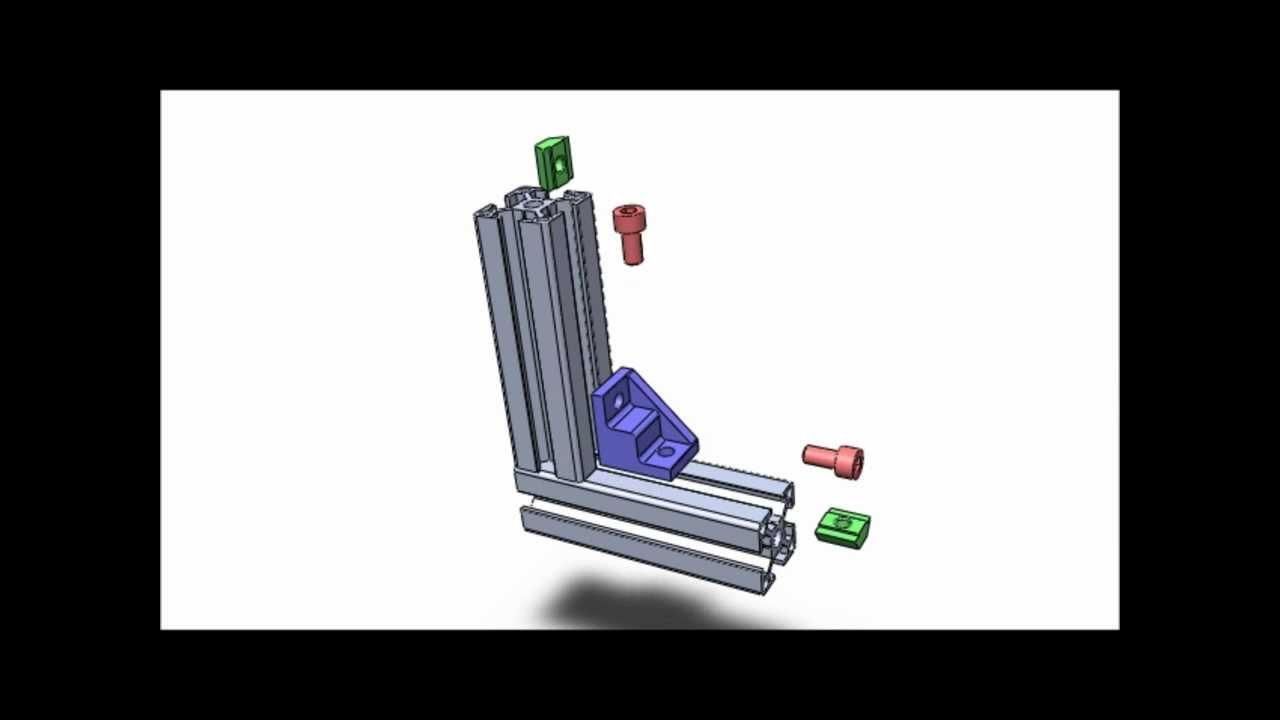 technique d 39 assemblage pour profiles aluminium modulaires n 1 youtube. Black Bedroom Furniture Sets. Home Design Ideas