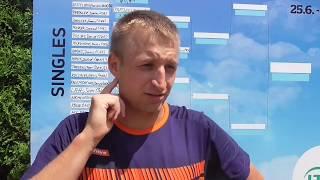 Pavel Nejedlý po porážce v 1. kole Rieter Open Pardubice 2018
