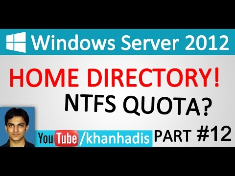 MCSA: Server 2012 in Urdu-Hindi Home Directory Quota Part 12