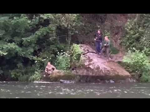 VÍDEO Íñigo Fernández pescando el campanu de Asturias 2020 en el río Narcea