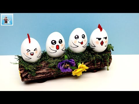 DIY Easter Egg Holder Log Art And Craft Ideas Handmade Handcraft