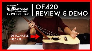 Journey Instruments OF420 Acoustic Guitar Review - Collapsable Travel Guitar Review 🎸