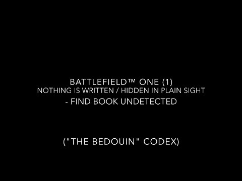 "Battlefield™ One (1): Hidden In Plain Sight - Find Book Undetected (""The Bedouin"" Codex)"