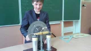 электрофорная машина(, 2014-01-31T15:14:48.000Z)