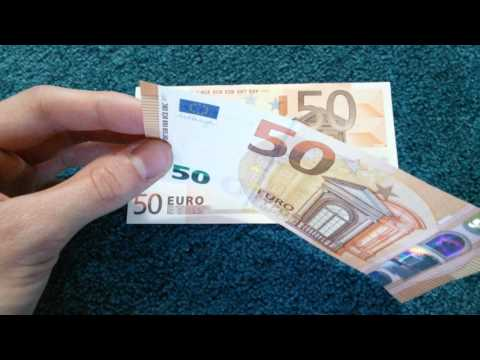 #The NEW 50 Euro Note //Comparison old/new