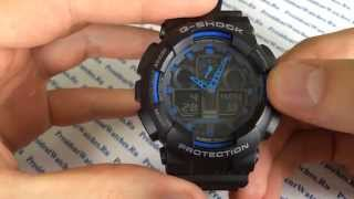 Инструкция по настройке часов Casio G-SHOCK GA-100-1A2ER - видео G-SHOCK  от PresidentWatches