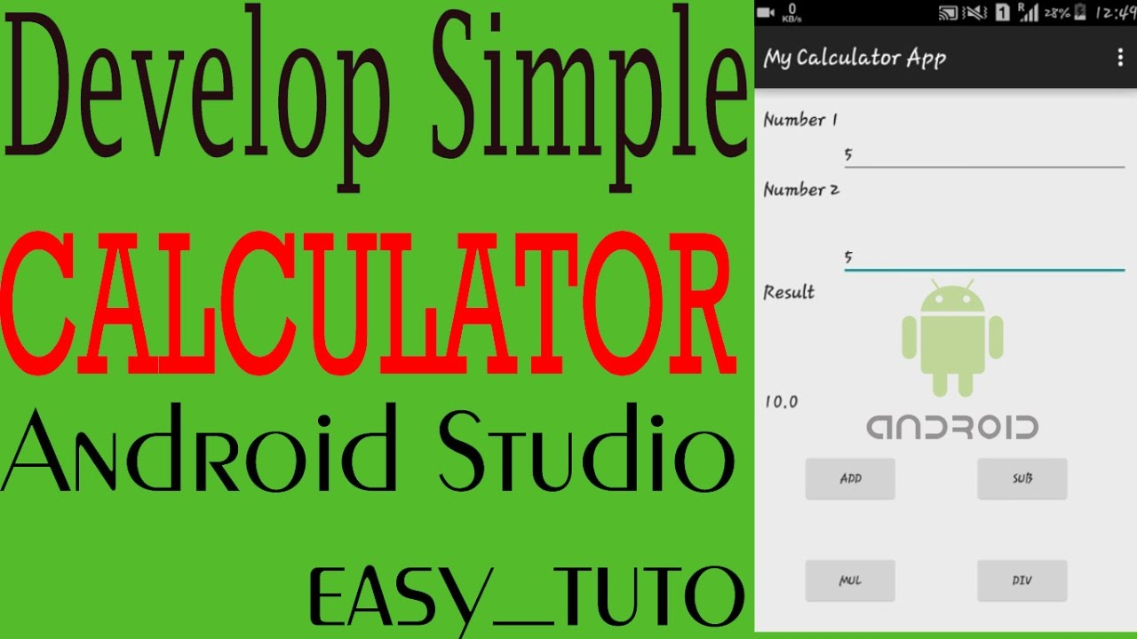 How to create simple calculator app in android studio
