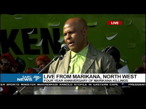 Joseph Mathunjwa's address at the 4th Marikana tragedy Comme