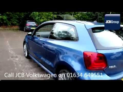 2014 Volkswagen Polo Hatch BlueGT 1.4l Blue Silk Metallic GM14SXN for sale at JCB VW Medway
