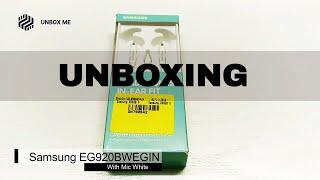 Samsung EG920BWEGIN White Earphone Unboxing and Review