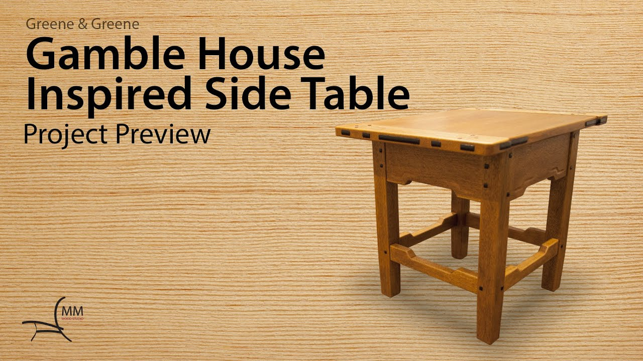 Gamble House Inspired Side Table Project Preview   YouTube