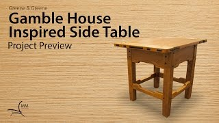 Gamble House Inspired Side Table Project Preview