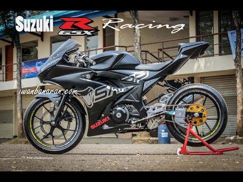 Bengisnya Suzuki new GSX-R150 versi Racing SARP hitam doff...!!