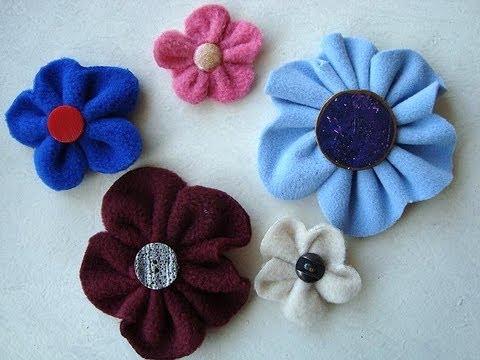 Easy Fleece Or Felt Flowers Sewing For Beginners Youtube