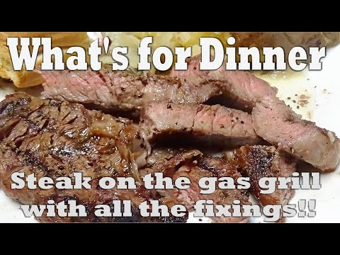 what's-for-dinner-on-a-hot-summer's-night?-grilled-ribeye-steak-with-the-fixings-yummm