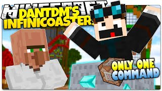 Minecraft | DanTDM 's INFINITE Rollercoaster! | Only One Command (Minecraft Custom Command)