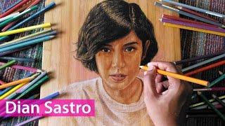 Menggambar Wajah Dian Sastro AADC Diatas Talenan Kayu | How To Draw A Face On Wooden Cutting Board