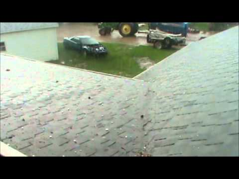 Severe Thunderstorm (Funnel Cloud and Hail) - Hollandtown, WI - May 22, 2011