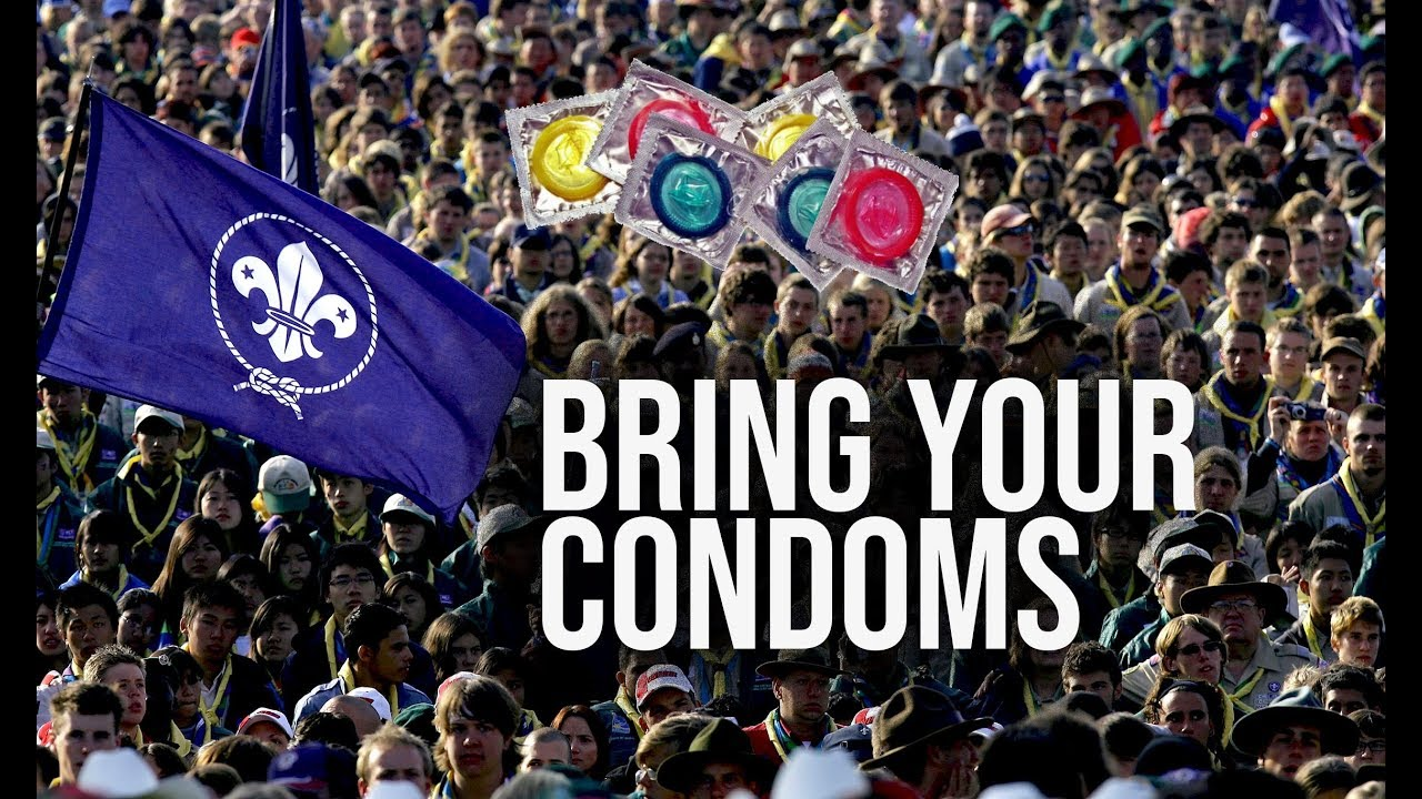 Image result for pics of boy scouts and condom distribution
