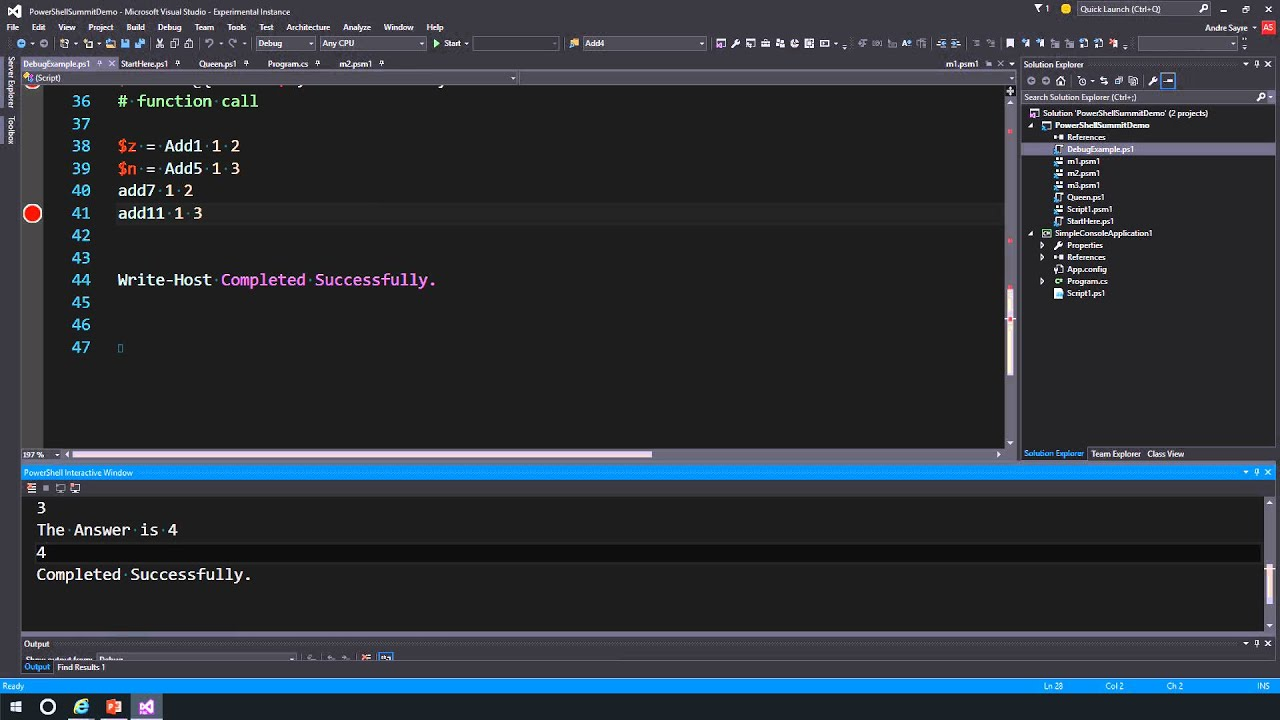 PowerShell Tools for Visual Studio