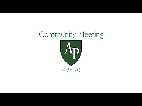 Austin Preparatory School Community Meeting 4.27.20