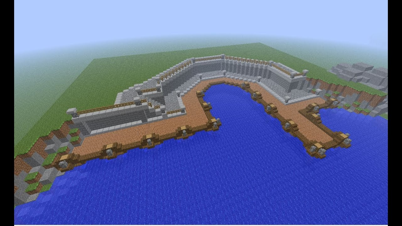 Minecraft Medieval Small Town Port Tutorial How To Build