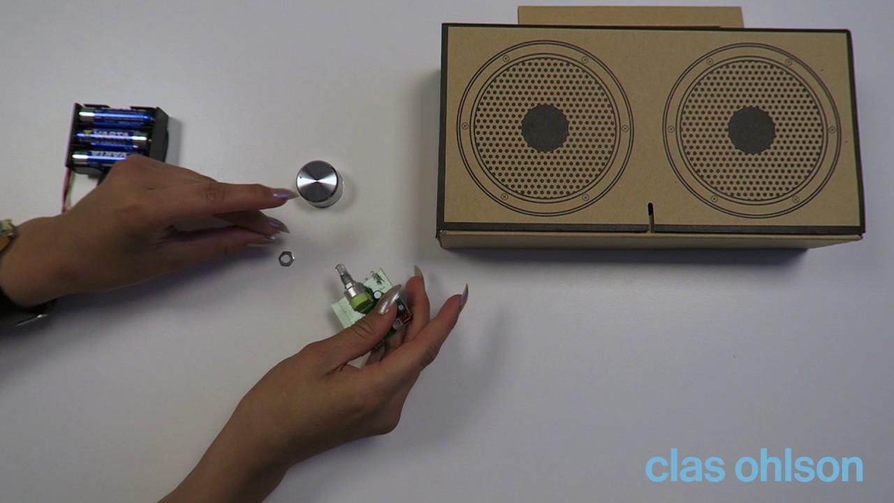 Liten Kastrull Clas Ohlson ~ Högtalare DIY byggsats Lättbyggt kit som monteras helt utan verktyg YouTube