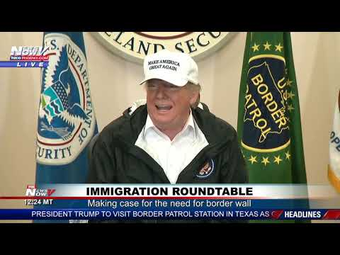 FULL IMMIGRATION ROUNDTABLE: President Trump Meets Federal, State Officials in South Texas (FNN)