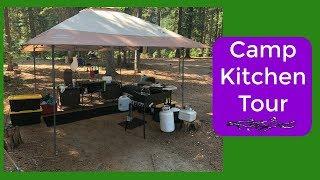 Vegan Camp Kitchen Tour   Lake Camping in Oregon