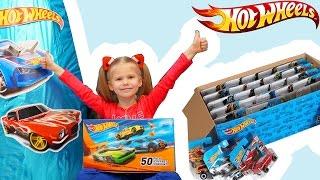 Хот ВИЛС машинки на русском +50 PACK Hot Wheels Basic Cars Toys открываем ГИГАНТСКОЕ Яйцо GIANT EGG