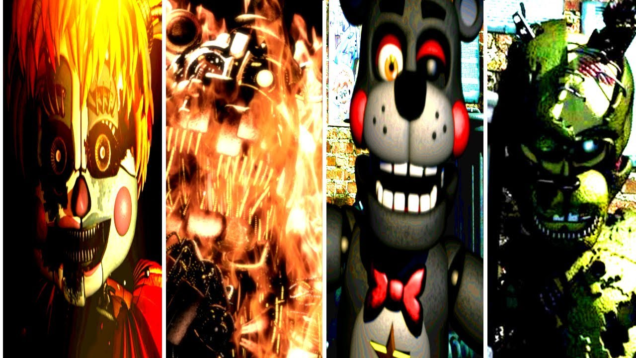 Five Nights at Freddy's 6 All Animatronic Voices [FNaF 6 OFFICIAL]