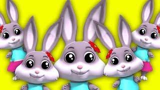кролик палец семья | Дошкольная песня | 3D Rhymes | Rabbit Finger Family