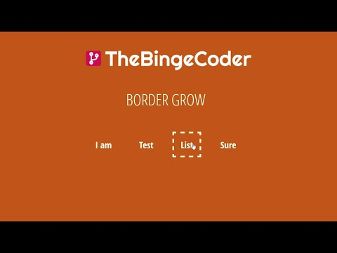 List Hover Effects Border & Bottom Grow ? | CSS Before / After | HTML/CSS/SASS Tutorial | #8 thumbnail