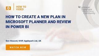 So Erstellen Sie einen Neuen Plan in den Microsoft-Planer und überprüfen Sie im Power BI