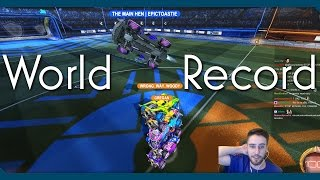 WORLD RECORD | Tallest Rocket League Car Stack | Link to Full Version in Description