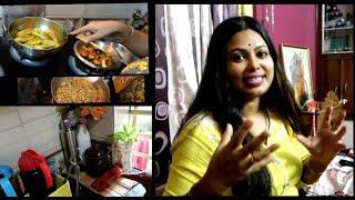 আজ আছে রান্না- গোছগাছ - kitchen cleaning//special breakfast Oats upma /পরিপূর্ণ Vlog || Bengali Vlog