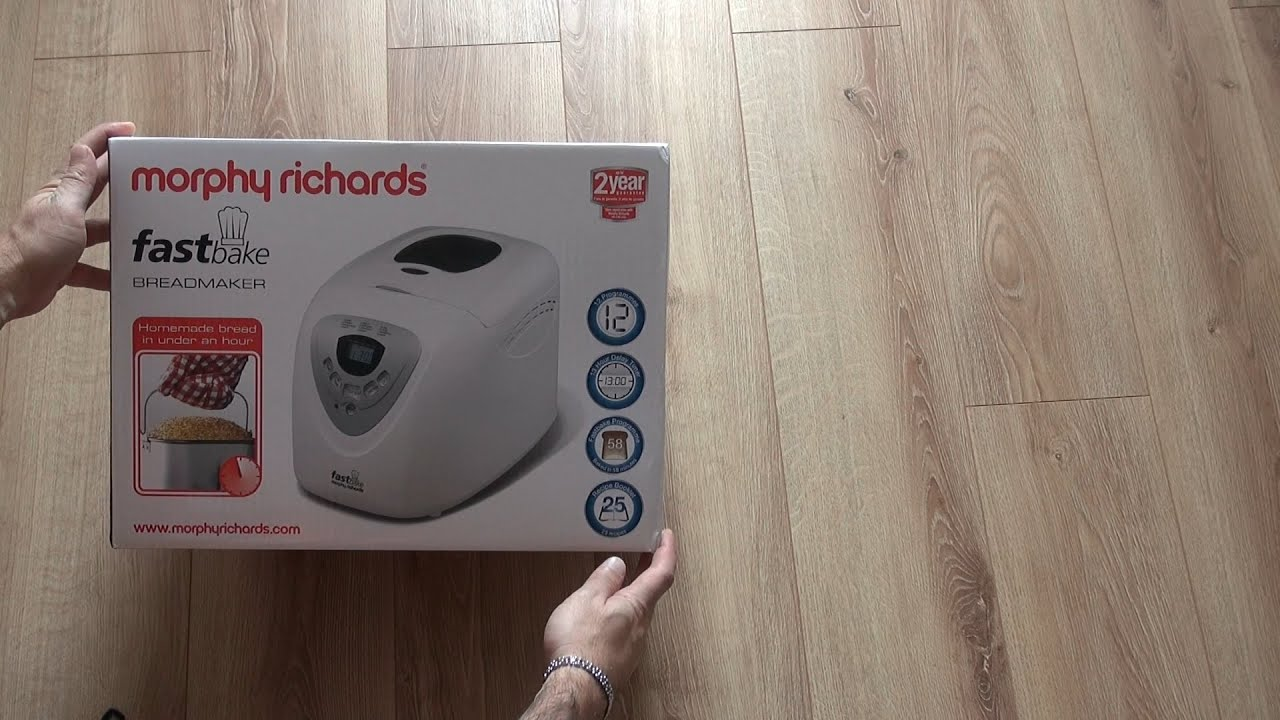 morphy richards 48280 fastbake breadmaker unboxing youtube. Black Bedroom Furniture Sets. Home Design Ideas