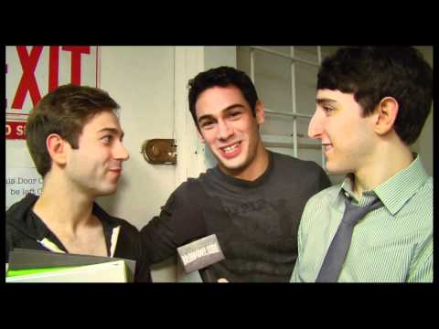 """Backstage at """"Newsies"""" with Ben Fankhauser and Tommy Bracco"""