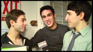 "Backstage at ""Newsies"" with Ben Fankhauser and Tommy Bracco"