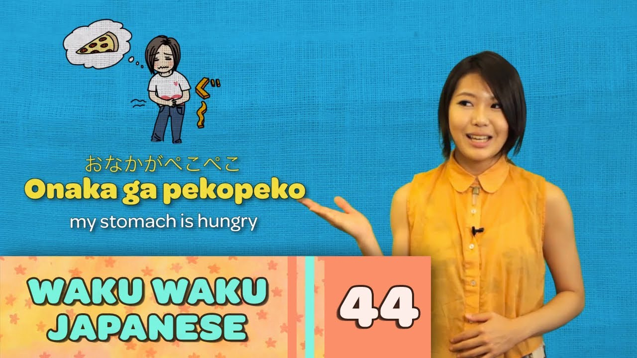 Waku Waku Japanese - Language Lesson 44: Fun Onomatopoeia