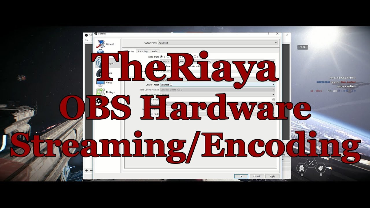 Using OBS Hardware Encoding for AMD, INTEL, and NVIDIA