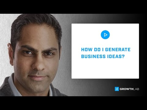 Ask Ramit - How do I generate business ideas?
