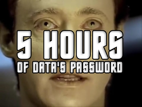Data's security code is 5 HOURS LONG
