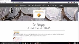 Gold - Silber - Edelmetalle - Vorstellung meiner neuen Website
