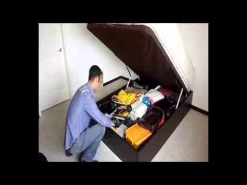 Base de cama abatible ismar mobiliario youtube - Base cama almacenaje ...