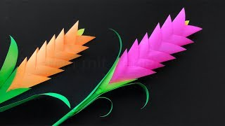 Blumen basteln - DIY Bastelideen zum Geschenke selber machen. Deko Basteln mit Origami Papier