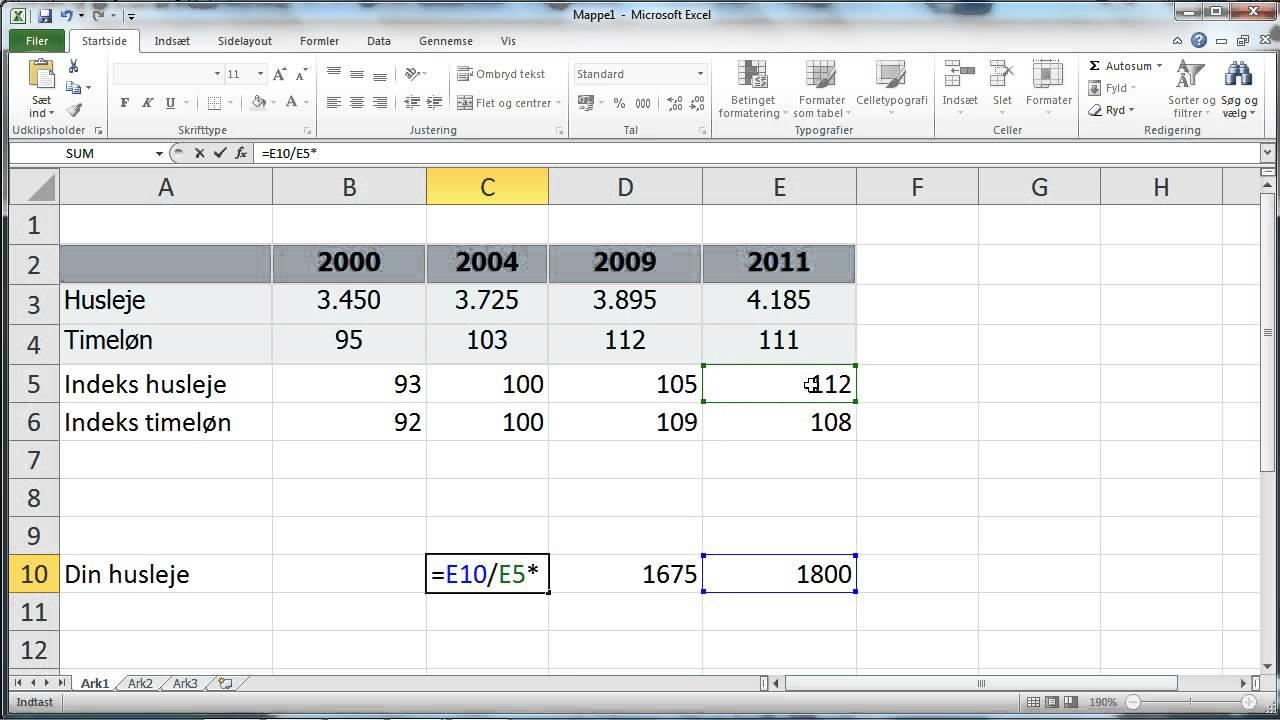 indekstal formel