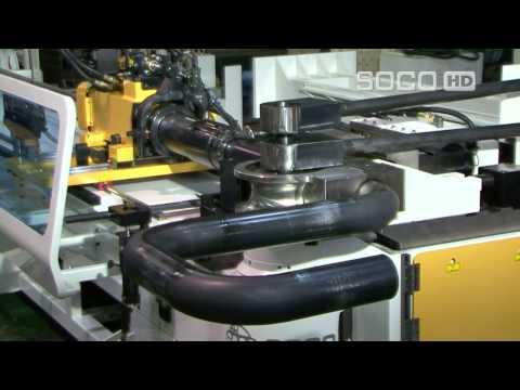 Трубогибочный станок с ЧПУ SOCO SB-90AUTO. Бюджетный трубогиб с дорном для гибки труб.